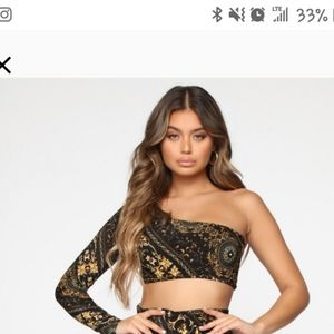 Fashion nova  crop top large new